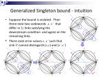 generalized singleton bound intuition