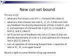 new cut set bound