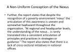 a non uniform conception of the nexus