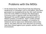 problems with the mdgs
