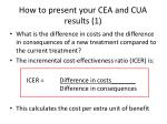 how to present your cea and cua results 1