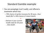 standard gamble example