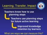 learning transfer impact