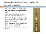 expansion contraction topics for class discussion1