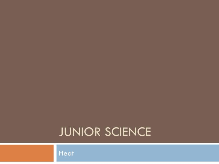 junior science n.