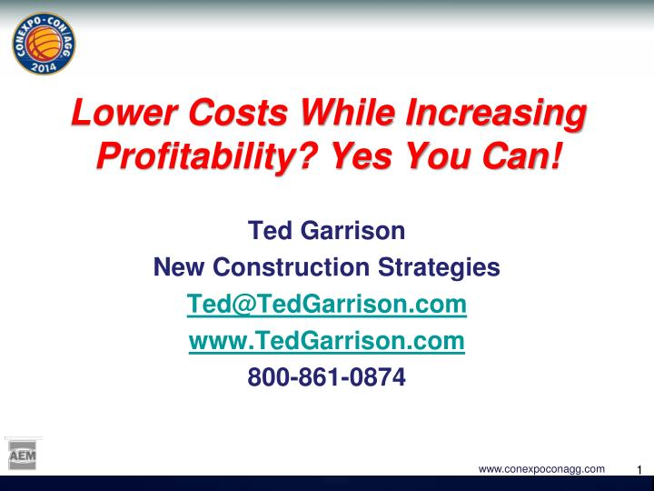 lower costs while increasing profitability yes you can n.