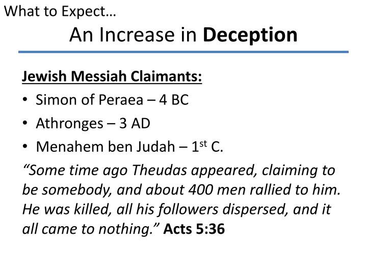 An increase in deception