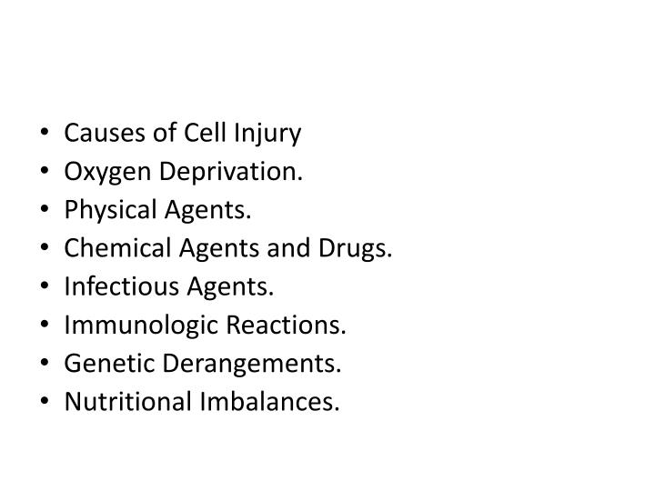 Causes of Cell
