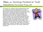 chav per sociology factsheet on youth subcultures curriculum press uk