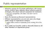 public representation