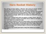 hero rocket history