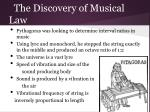 the discovery of musical law