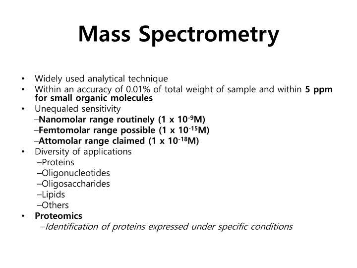 Mass spectrometry1