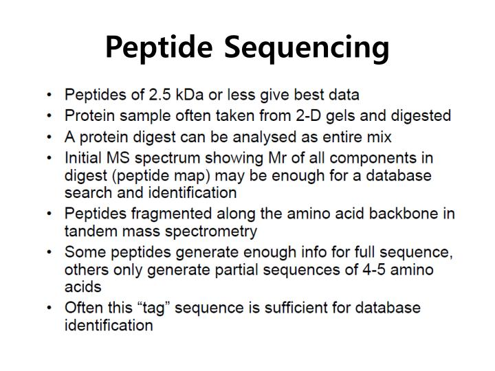 Peptide Sequencing