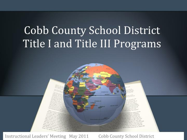 cobb county school district title i and title iii programs n.