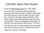 cold war space race quotes