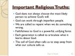 important religious truths