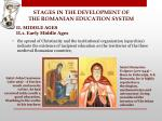 stages in the development of the romanian education system1