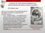 stages in the development of the romanian education system10