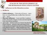 stages in the development of the romanian education system4
