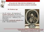 stages in the development of the romanian education system9