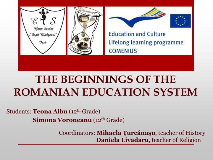 the beginnings of the romanian education system n.