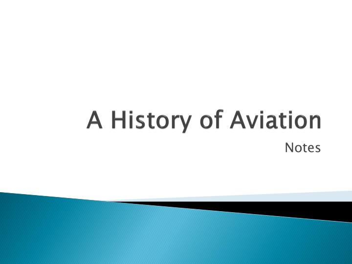 a history of aviation n.