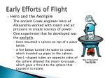 early efforts of flight1