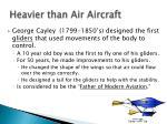 heavier than air aircraft