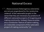 national excess