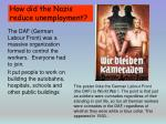 how did the nazis reduce unemployment3