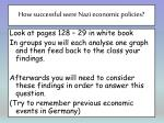 how successful were nazi economic policies