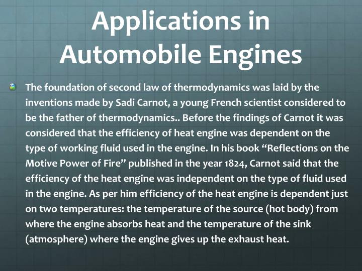 Applications in Automobile