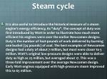 steam cycle2