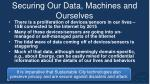 securing our data machines and ourselves