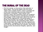 the burial of the dead