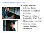 mannerist visual styles taboo