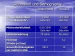 gesundheit und demographie
