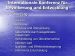 internationale konferenz f r bev lkerung und entwicklung