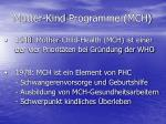 mutter kind programme mch