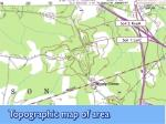topographic map of area
