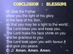 conclusion blessing1