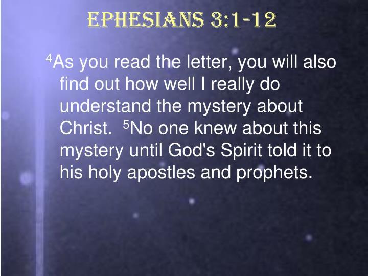 Ephesians 3:1-12