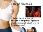 energia mecanic