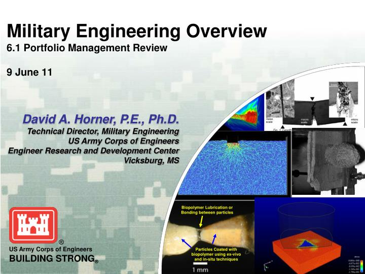 military engineering overview 6 1 portfolio management review 9 june 11 n.