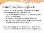 texture surface roughness