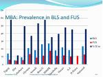 mba prevalence in bls and fus