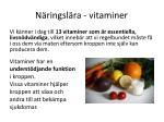 n ringsl ra vitaminer