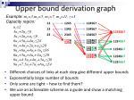 upper bound derivation graph