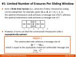 1 limited number of erasures per sliding window1